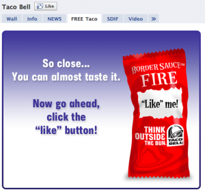 Facebook Reveal Landing Page Taco Bell