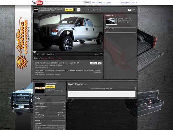 Custom Tinting Custom YouTube Channel