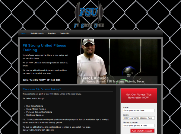 Fit Strong United Training Website Design