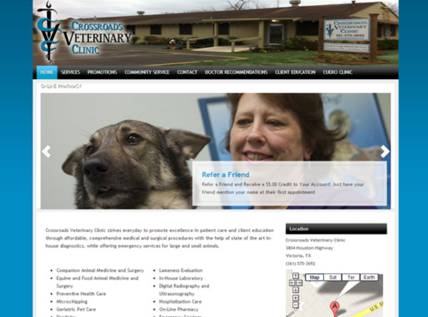 Crossroads Veterinary Clinic Victoria TX Website